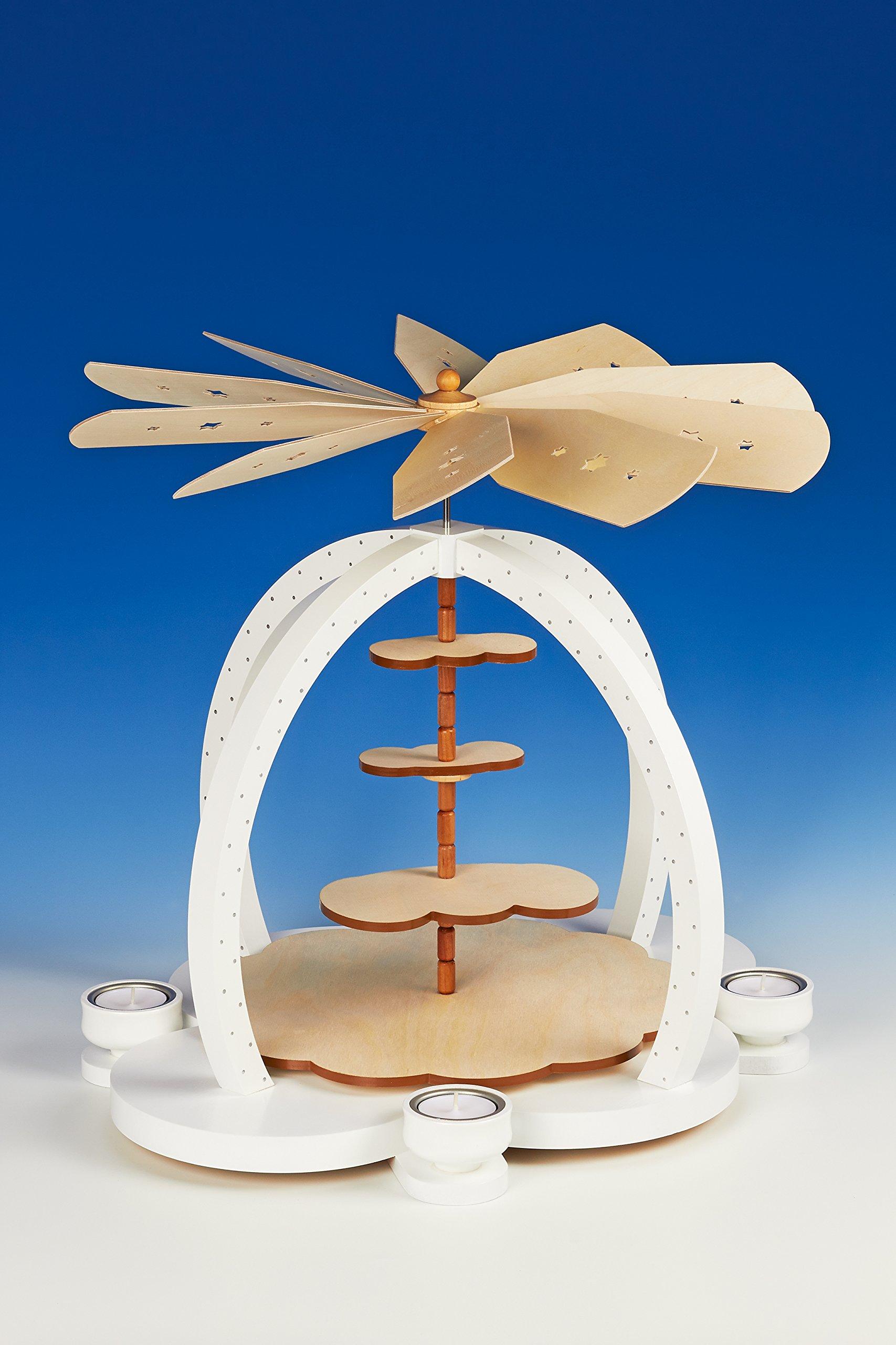 "Pyramid table pyramid Christmas pyramid Tea light pyramid Tea light pyramid, cloud charms of ""un stocked height of approx. 40 cm NEW"