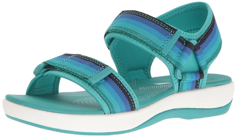 CLARKS Women's Brizo Ravena Flat Sandal B01IAVZE9C 6 W US|Blue