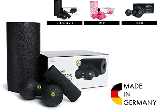 Blackroll Foam Roller BlackBox Set, Massage Balls for Shoulders, Trigger Point, Muscle Knots, Myofascial Release Muscle Strengthening Recovery Kit, Muscle Recovery Fitness, Pressure and Pain Relief