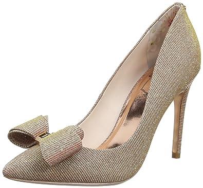 573c996cda09c Ted Baker Women s Azeline Text Af Rose Gold Closed Toe Heels