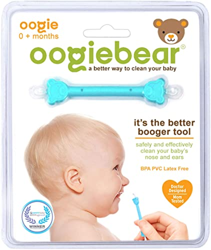 oogiebear - The Safe Baby Nasal Booger and Ear Cleaner; Baby Shower and Registry Essential Snot Removal Tool