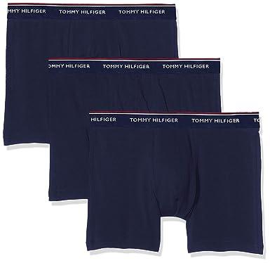 57e19739ad72 Tommy Hilfiger Men's 3 Pack Premium Essentials Boxer Briefs, Blue at Amazon  Men's Clothing store: