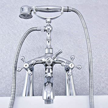 Deck Mounted Bathtub Faucet Telephone