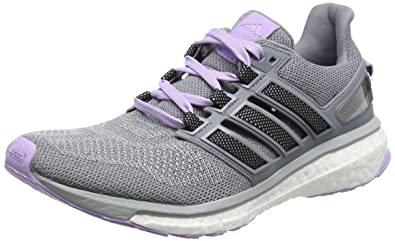 adidas Energy Boost 3, Chaussures de Running Compétition Femme, Gris-Grey (Clear Onix/Core Black/Purple Glow S16), 44 EU