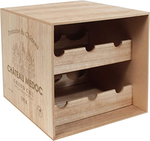 Le Studio - Caja para botellas, color marrón: Amazon.es: Hogar