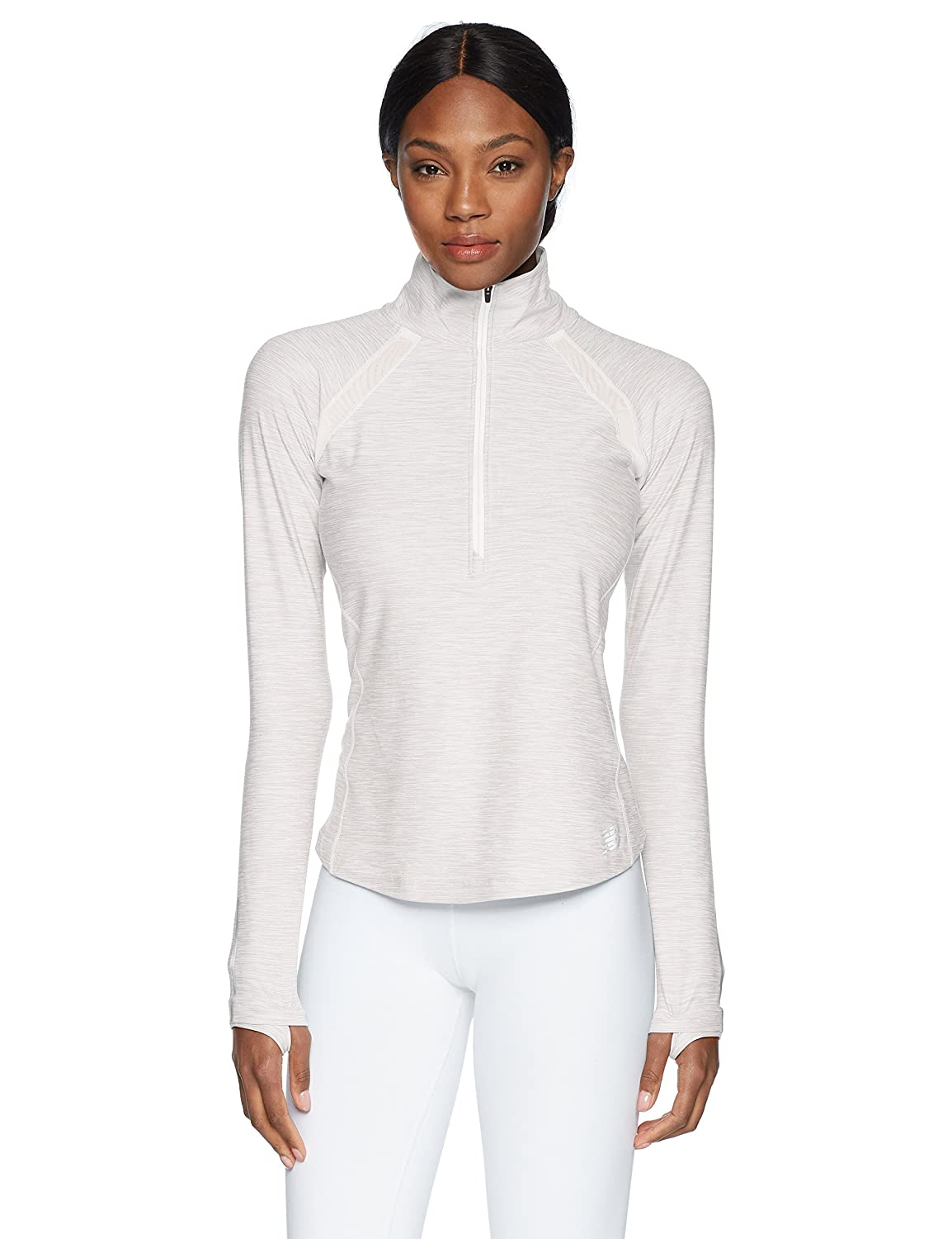 Sea Salt Heather Balance Womens Anticipate Half Zip