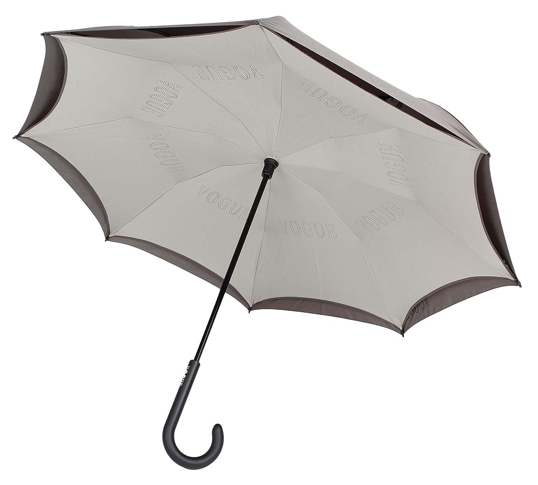 Por fin un paraguas que evita que nos mojemos al salir o al entrar del coche. Paraguas Vogue Invertido reversible con doble capa. Antiviento.