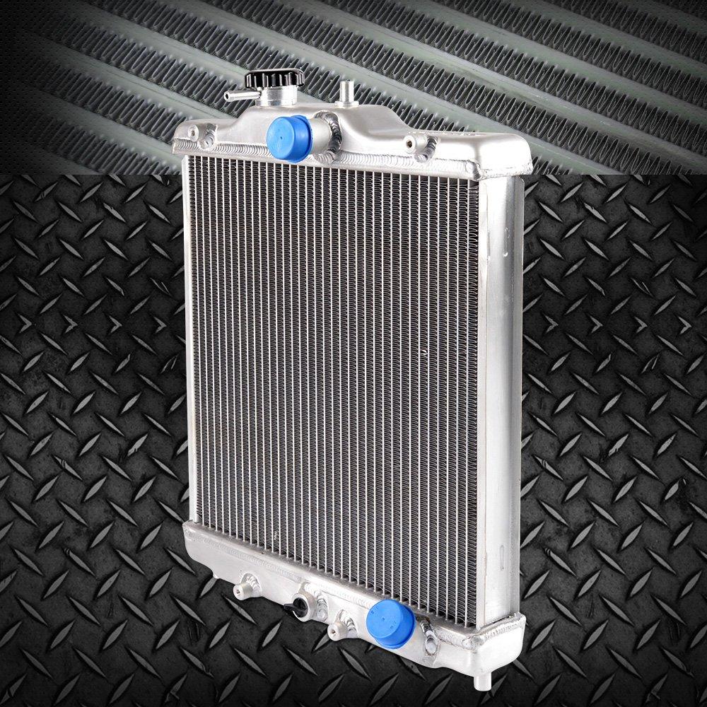 3 Row 52mm Aluminum Cooling Radiator Cap Racing radiator Top Leak For Honda Civic 92-00 EK EG D15 D16 In/Out 28mm 1993 1994 1995 1996 1997 1998 1999 Gplusmotor