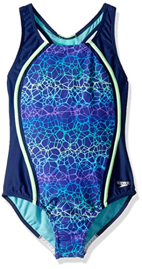 ddcca960b3755 Amazon.com : Speedo Girls Printed Sport Splice : Clothing