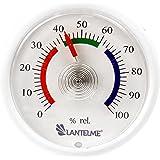 Lantelme 6249 Mini Hygrometer mit Analoger Feuchtigskeitsanzeige über Bimetall Federelement