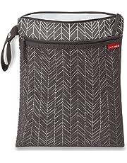 Skip Hop Waterproof Wet Dry Bag, Grab & Go, Grey Feather