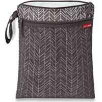 Skip Hop Grab and Go Wet Dry and Bag, Grey Feather, 12lx0.50bx15h inches