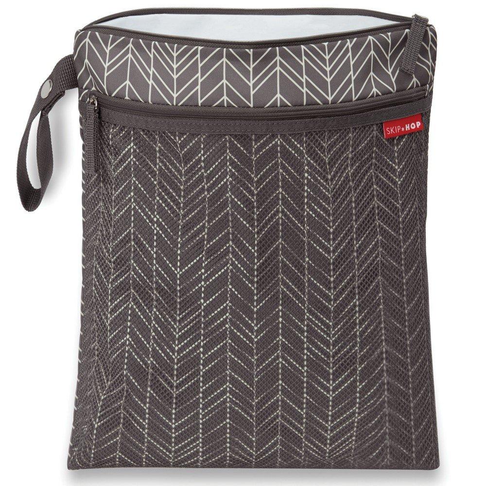 Skip Hop Waterproof Wet Dry Bag, Grab & Go, Grey Feather by Skip Hop