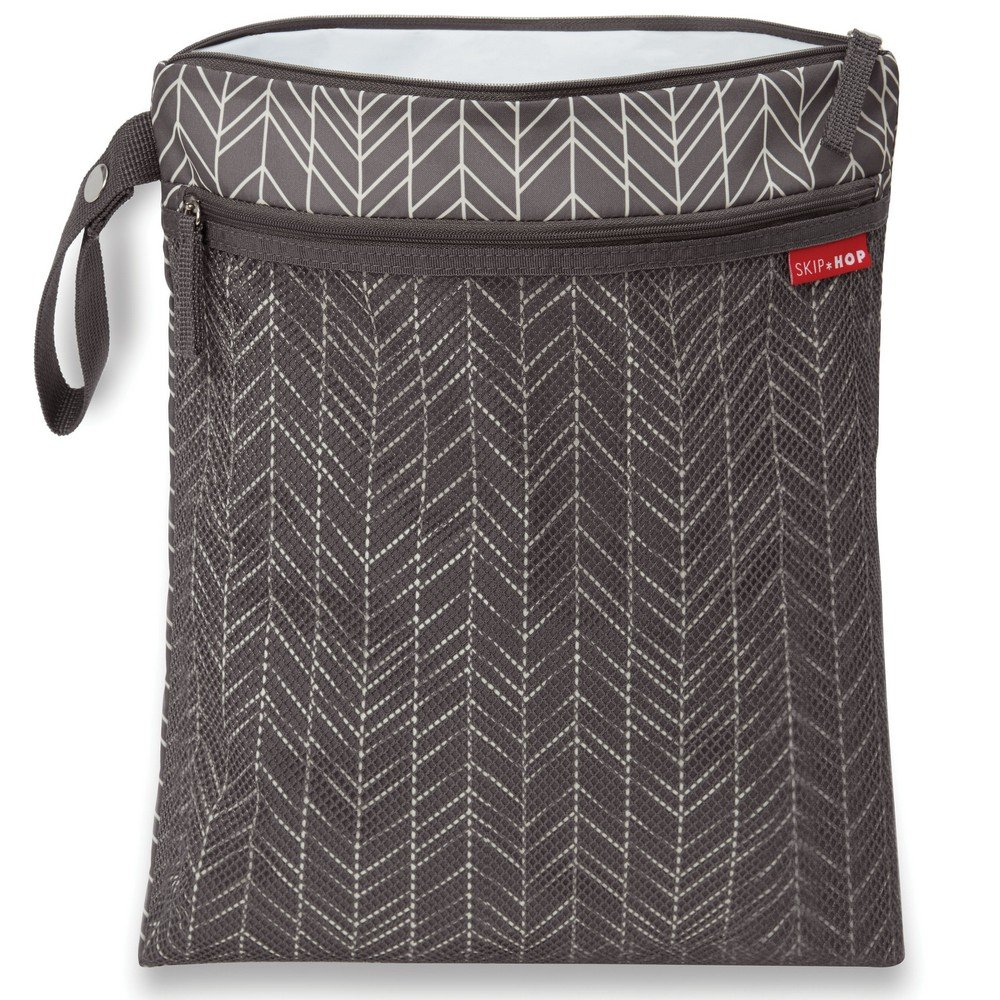 Skip Hop Waterproof Wet Dry Bag, Grab & Go, Grey Feather