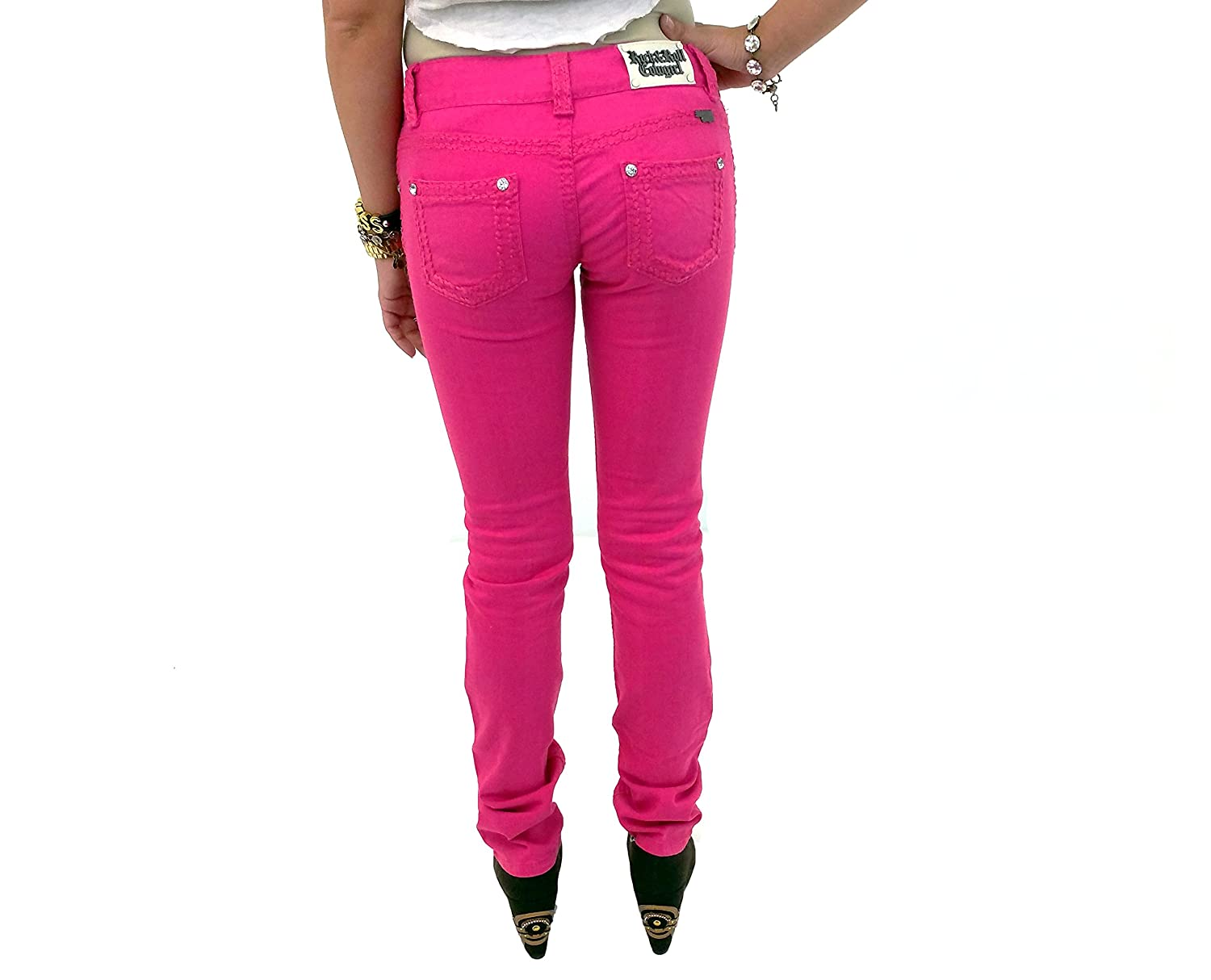 Rock and Roll Cowgirl W0S3697 Lowrise Hot Pink Skinny