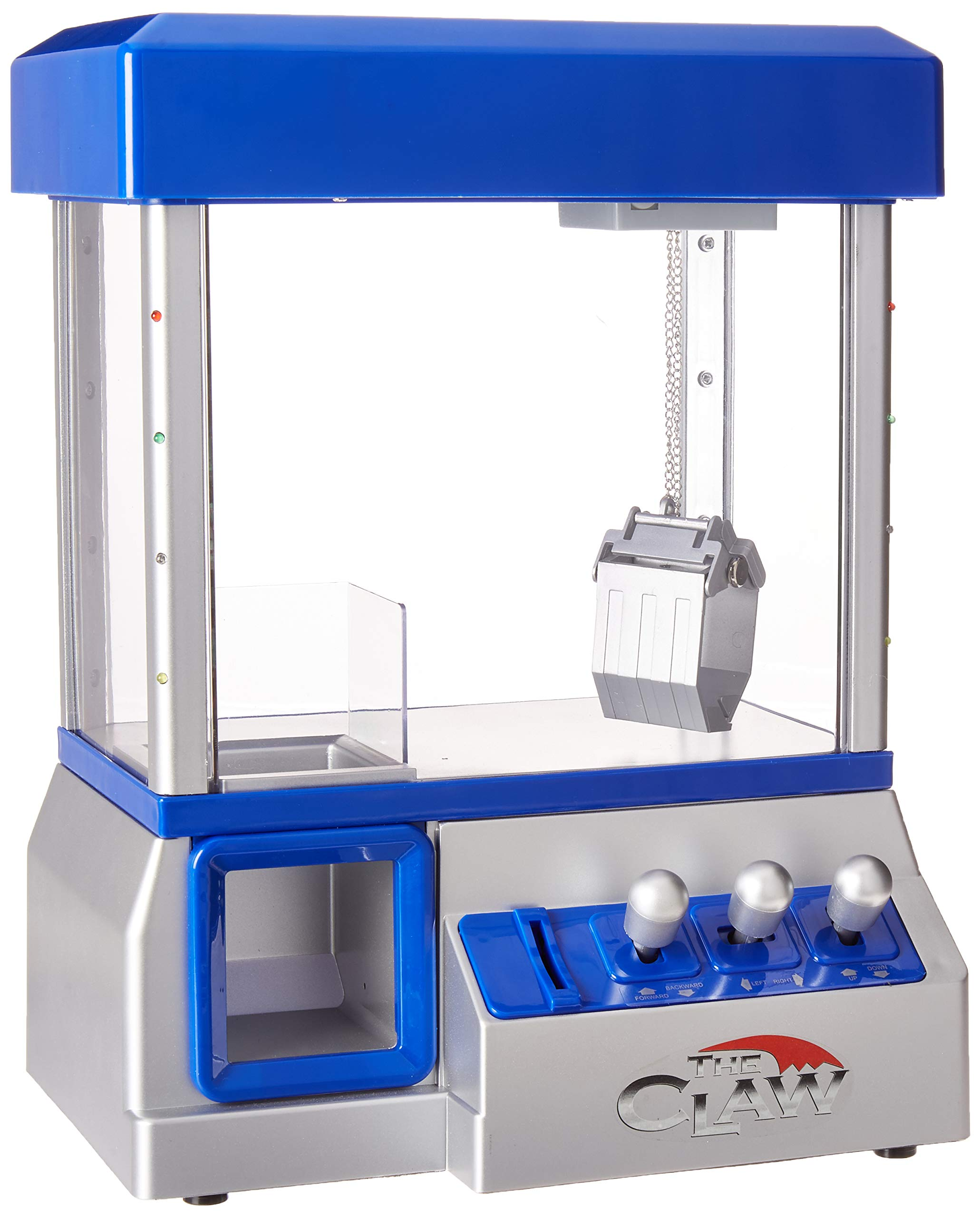 Claw Machine - Arcade Mini Toy Grabber Machine for Kids - Candy Machine- Retro Carnvial Music & Flashing Lights- Best Birthday Gift Game. Use Gumballs, Candy, Toys, or Small Prizes (Blue) by Define Essentials