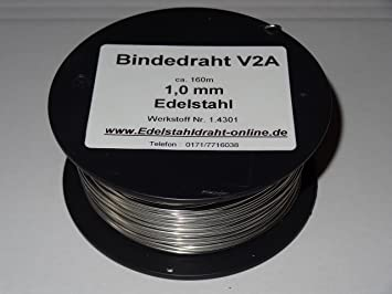 1 reel wire of Stainless Steel VA V2A Wire 1.0 MM Approx. 160 M soft ...