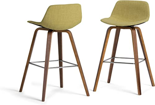 SIMPLIHOME Randolph Mid Century Modern Bentwood Counter Height Stool Set of 2