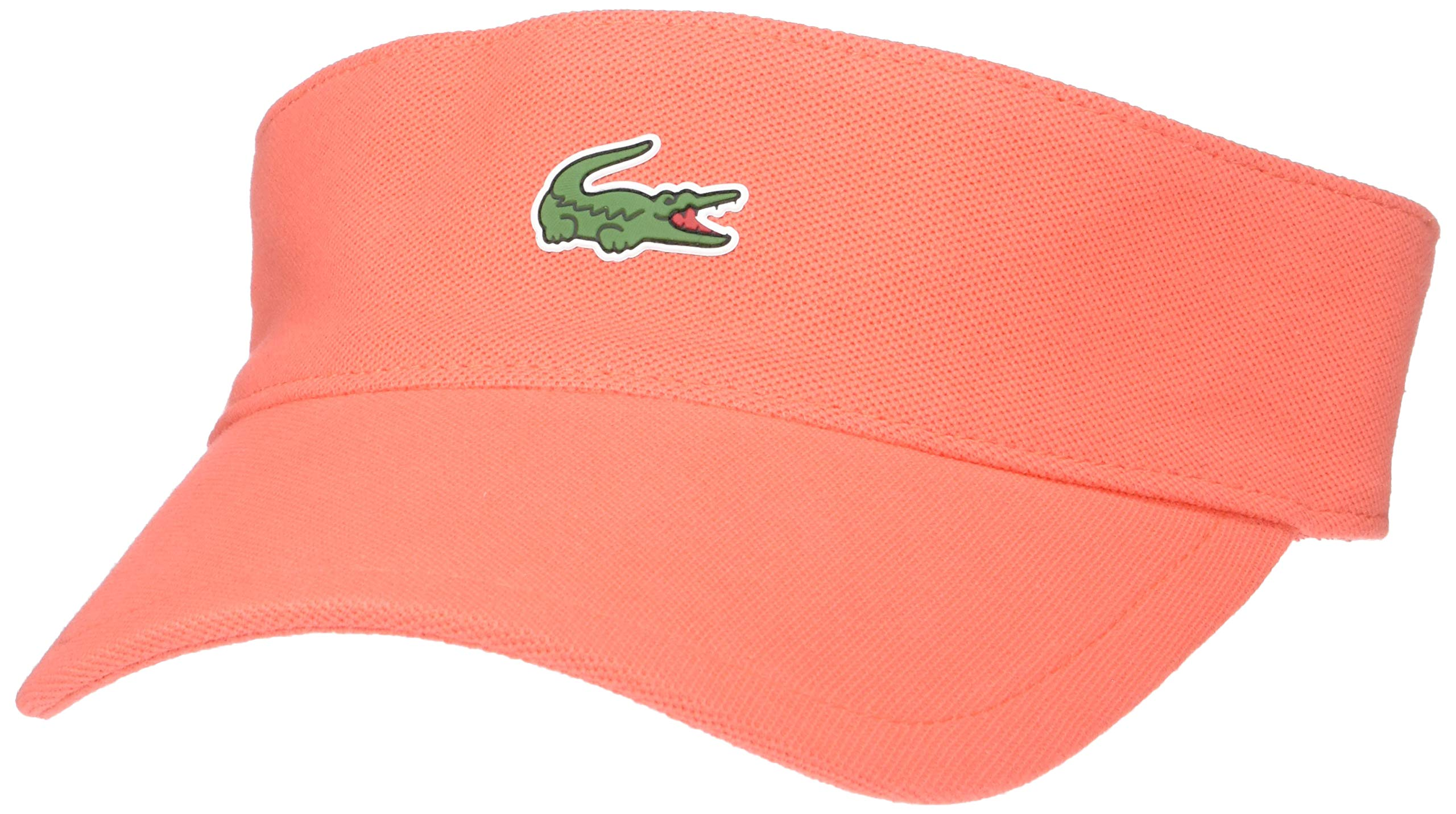 Lacoste Mens Sport Petit Pique Golf Visor, Mango Tree red, ONE by Lacoste