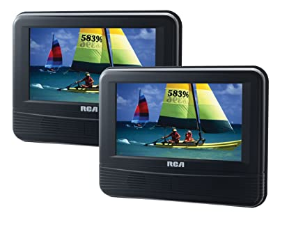 amazon com rca drc69705 7 inch dual screen mobile dvd system rh amazon com RCA with Swivel Screen Portable DVD Player RCA Portable DVD Player 10
