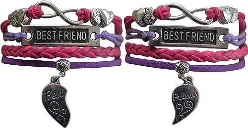 Friendship bracelet Infinity Set of 2 White