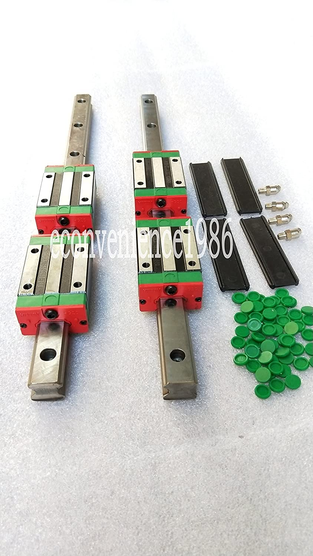 2 Sets HGR20-1000mm Hiwin Linear Rail & 4 pcs HGH20CA Block Bearing Cyber E-business Ltd