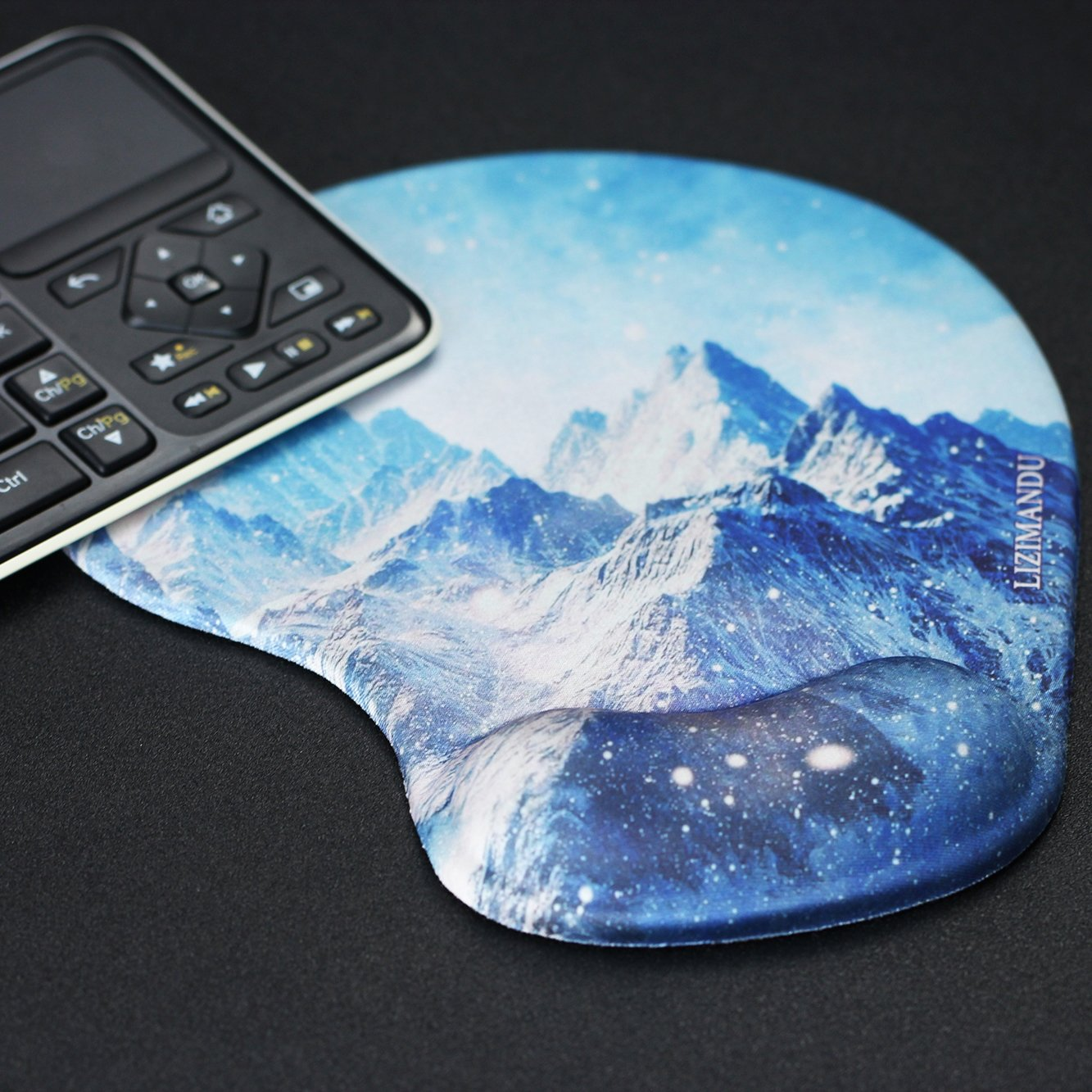 Lizimandu Non Slip Mouse Pad Wrist Rest For Office, Computer, Laptop & Mac - Durable & Comfortable & Lightweight For Easy Typing & Pain Relief-Ergonomic Support(Snow Mountain) by lizimandu (Image #6)