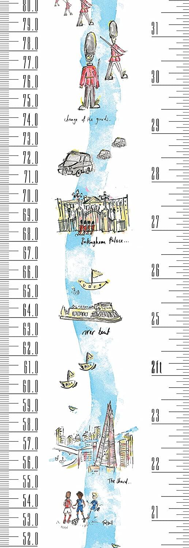 Aufrollbare Messlatte mit 1 Sharpie Mini Marker Stift Biene Tragbare Talltape um Kinder von der Geburt bis zum Erwachsenenalter messen zu k/önnen