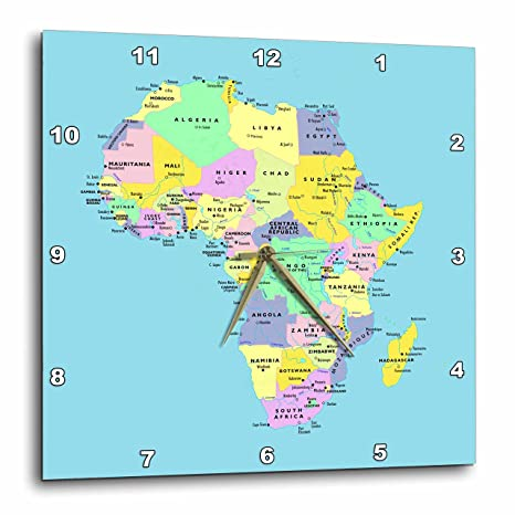 Colorful Map Of Africa.Amazon Com 3drose Colorful Map Of Africa On Blue Background