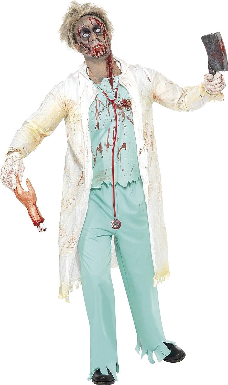 Smiffys Smiffys- Halloween Disfraz de médico Zombi, Verde, con ...