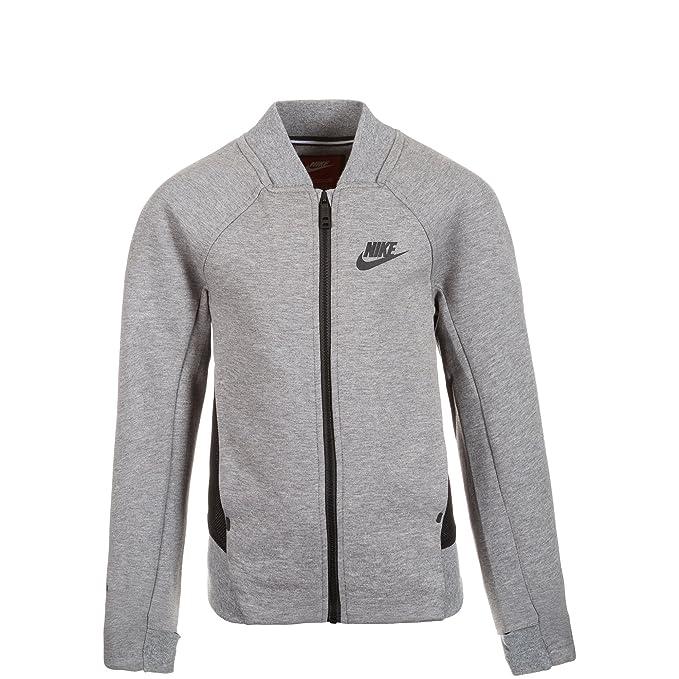 Nike Sudadera con Cierre Tech Fleece Gris/Negro L: Amazon.es: Ropa y accesorios