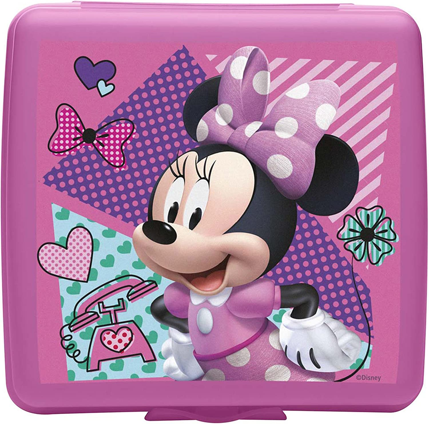 Zak Designs Minnie Mouse Plastic Sandwich Container, Mickey & Minnie Mouse