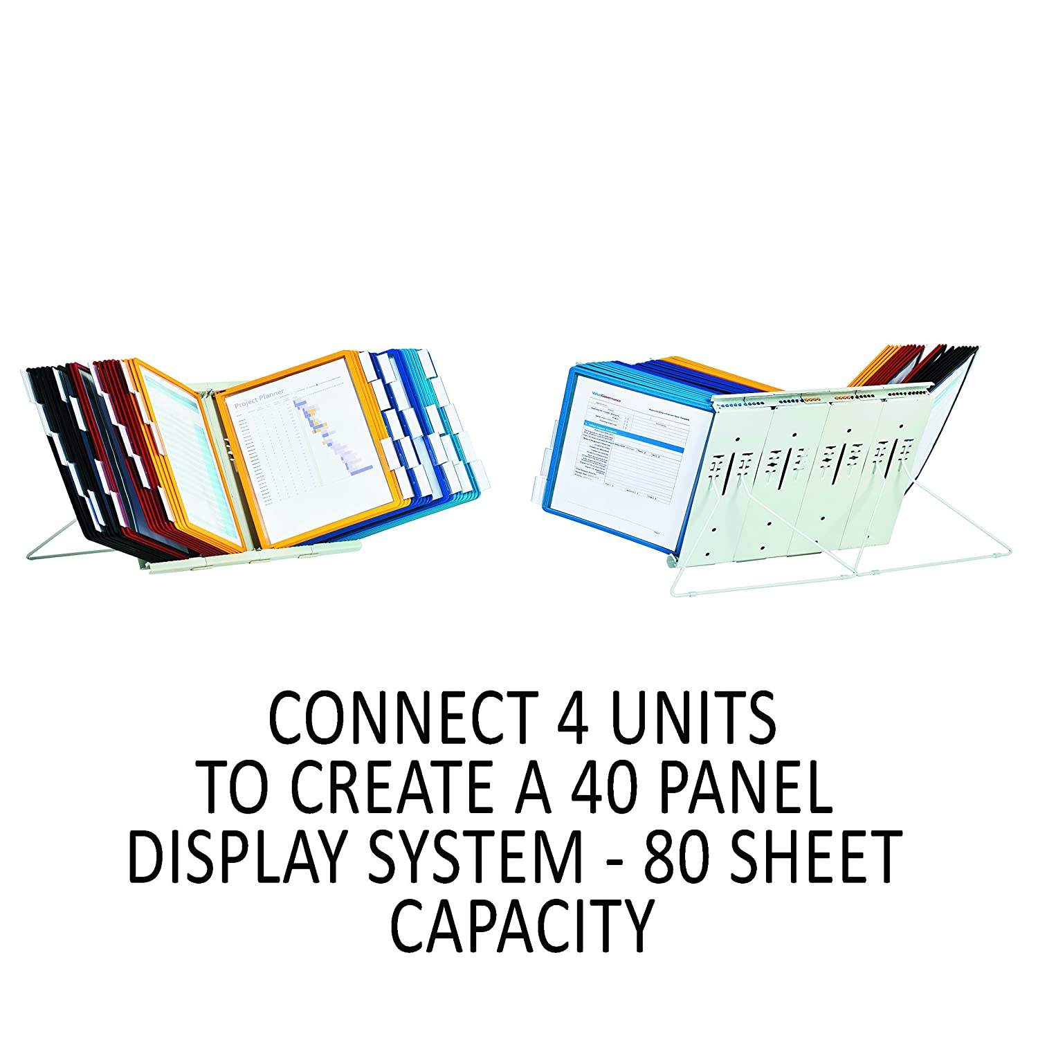 Durable Instaview Desktop Reference System with Border Panels of Assorted Colors DBL561200