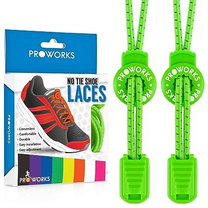 Cordones sin nudo, de la marca Proworks, cordones elásticos para zapato fá