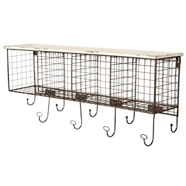 Linon 4-Cubby Wall Shelf, White - AHWE1238W1