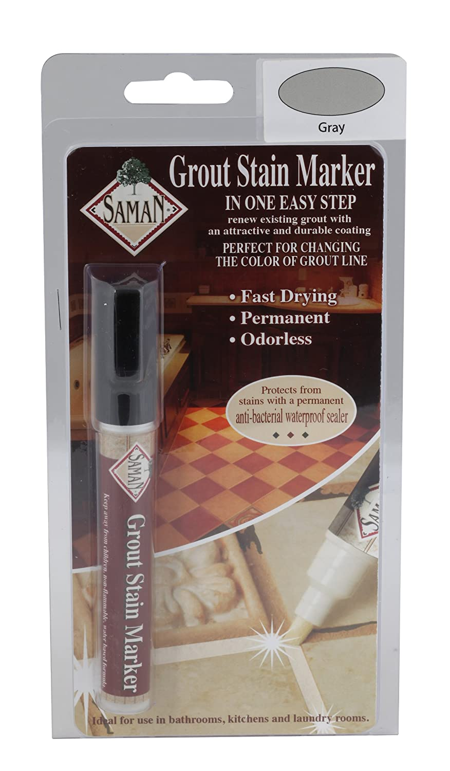 . Amazon com  SamaN GM 130 Grout Stain Marker  Gray  Home Improvement