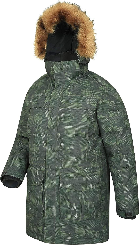 Abrigo Transpirable y de Secado r/ápido para Hombre Mountain Warehouse Chaqueta Antarctic Extreme Down para Hombre Abrigo Impermeable Cintura Ajustable