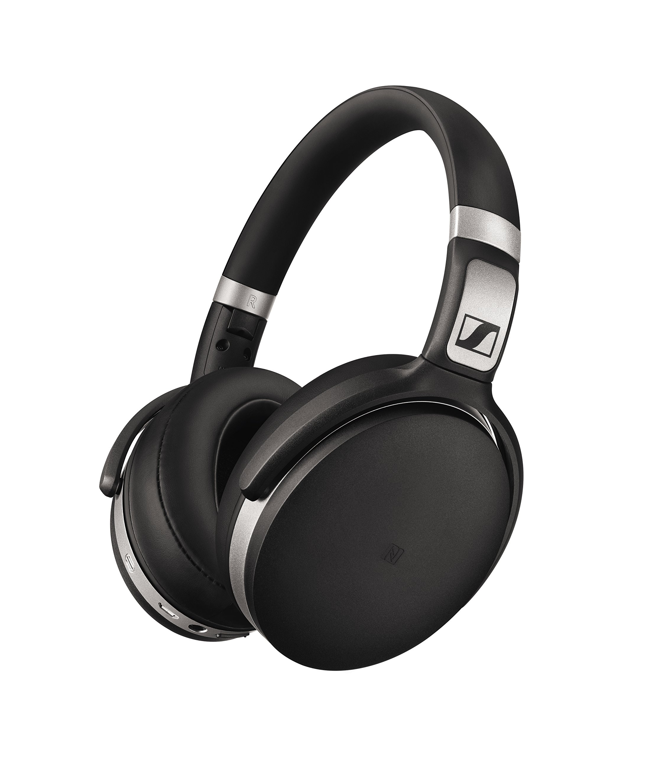 Sennheiser HD 4.50 Bluetooth Wireless Headphones with Active Noise Cancellation, Black and Silver(HD 4.50 BTNC) by Sennheiser Consumer Audio