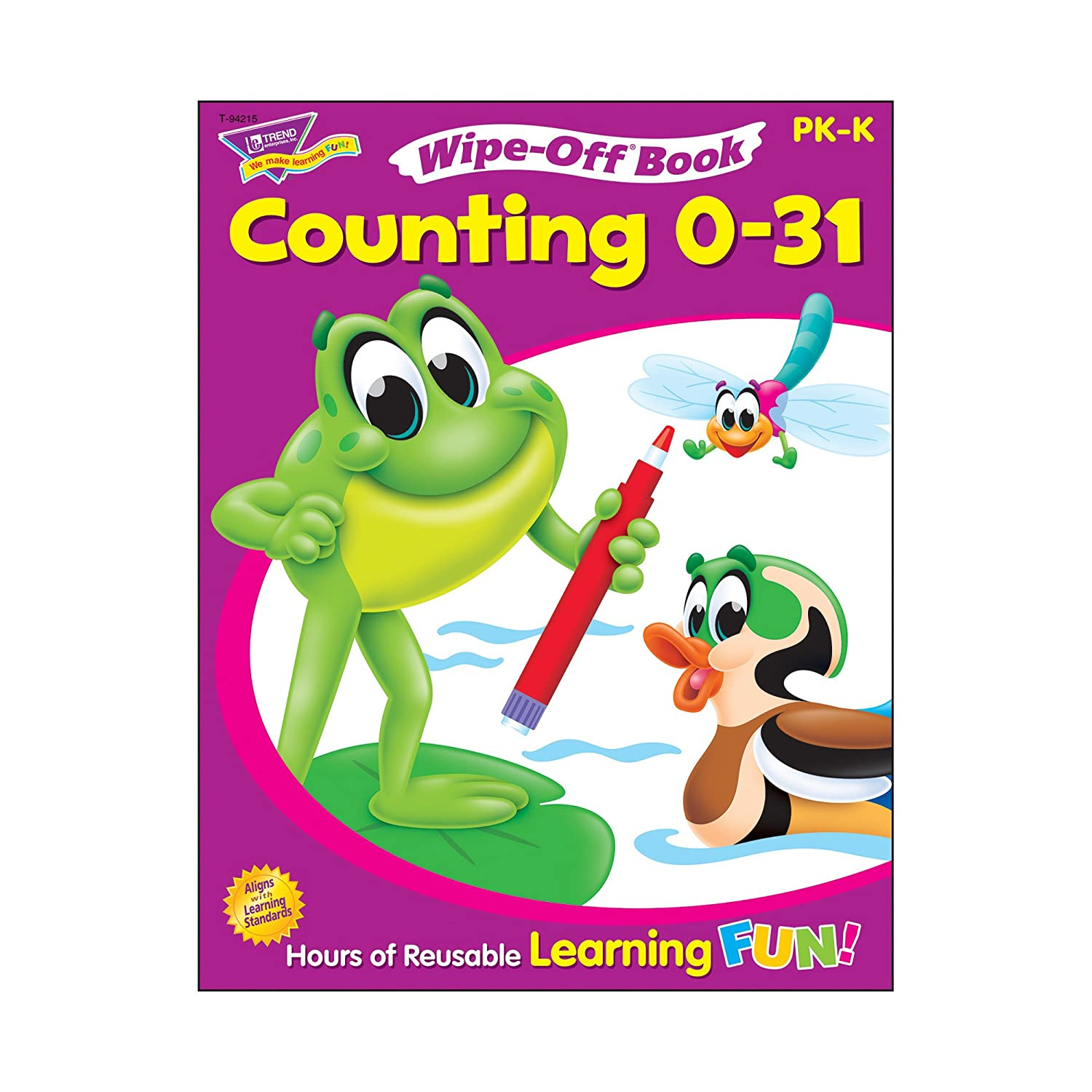 Counting 0–31 Wipe Off® Book