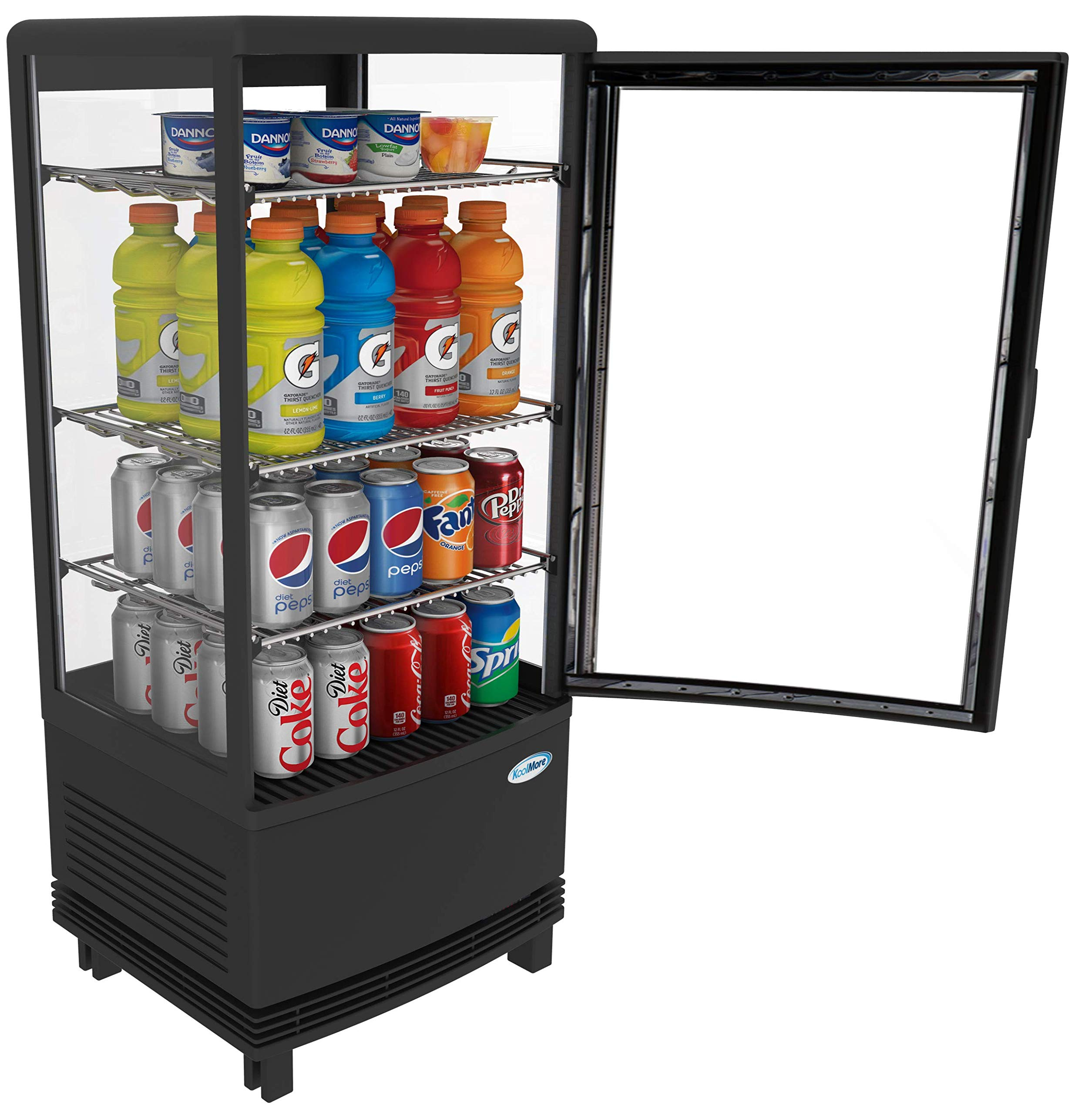KoolMore Countertop Refrigerator Display Case Commercial Beverage Cooler with LED Lighting - 3 cu. ft Capacity by KoolMore (Image #4)