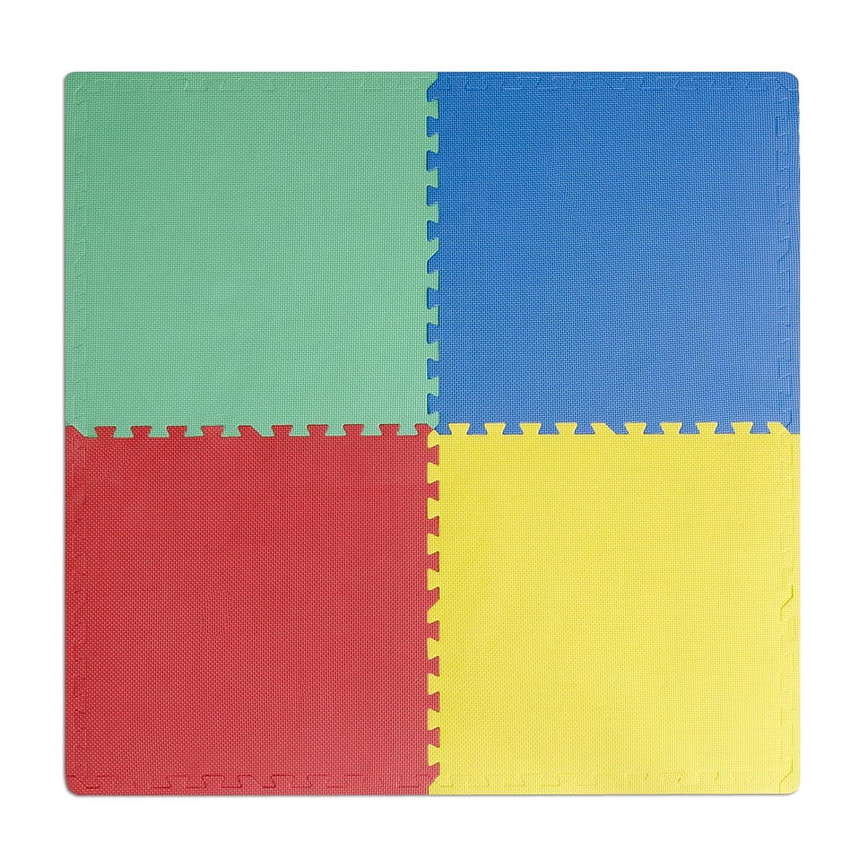 Casa pura steckmatte duo schadstofffrei für babys geeignet 4 steckquadrate 60 x