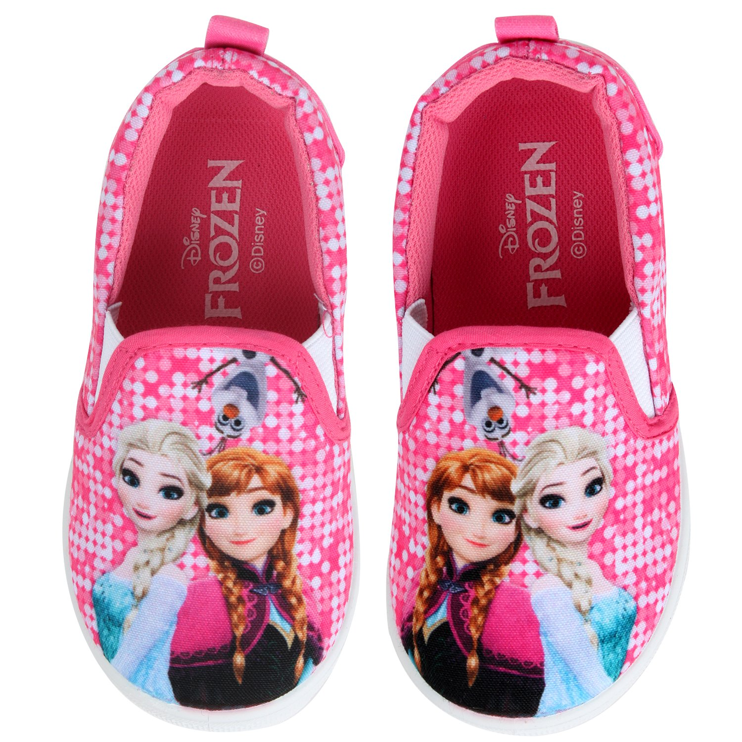 Disney Frozen Elsa Anna Olaf Candy Girls Pink Slip On Sneaker Shoes (Parallel Import/Generic Product) (8 M US Toddler)