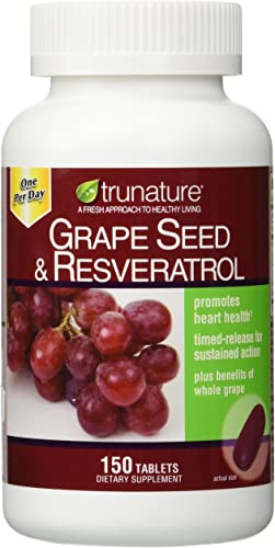 TruNature Grape Seed Resveratrol - 2 Bottles, 150 Tablets Each