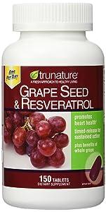 TruNature Grape Seed & Resveratrol - 2 Bottles, 150 Tablets Each