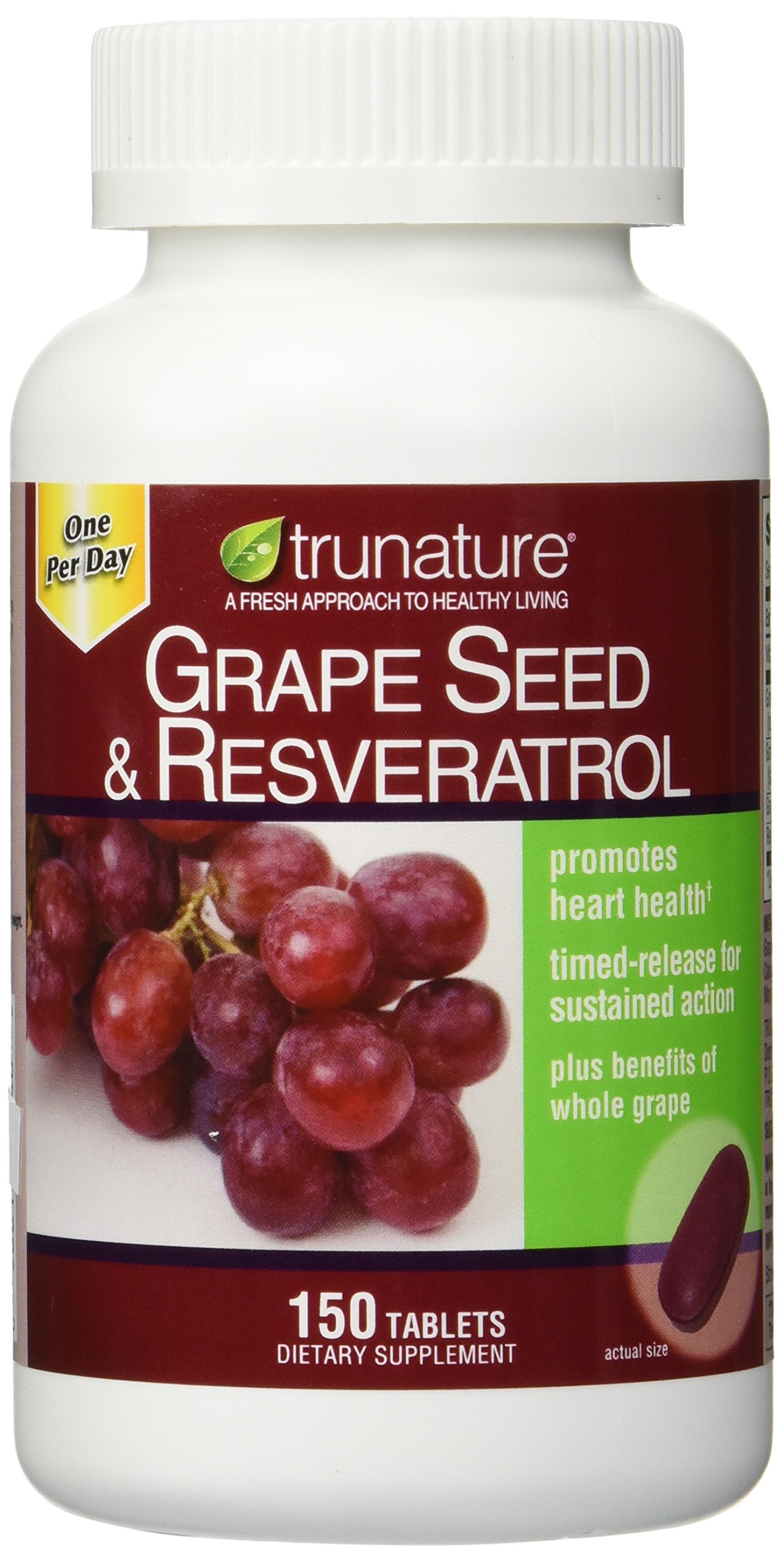 TruNature Grape Seed & Resveratrol - 2 Bottles, 150 Tablets Each by TruNature (Image #1)