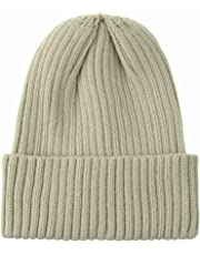 WITHMOONS Knitted Ribbed Beanie Hat Basic Plain Solid Watch Cap AC5846