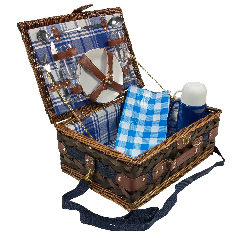 #Picknickkorb für 2 Personen mit Inhalt#
