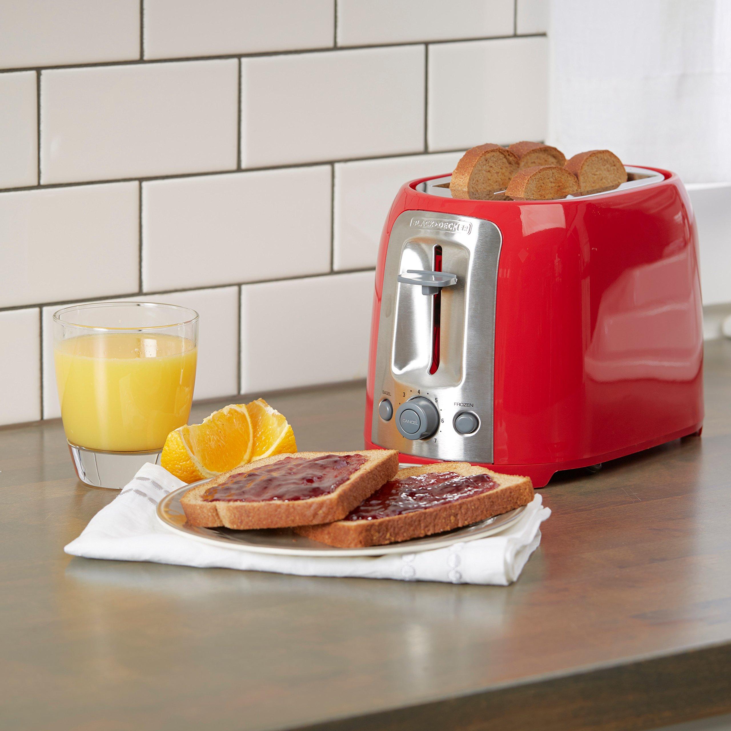 BLACK+DECKER 2-Slice Toaster, Red, TR1278RM by BLACK+DECKER (Image #5)