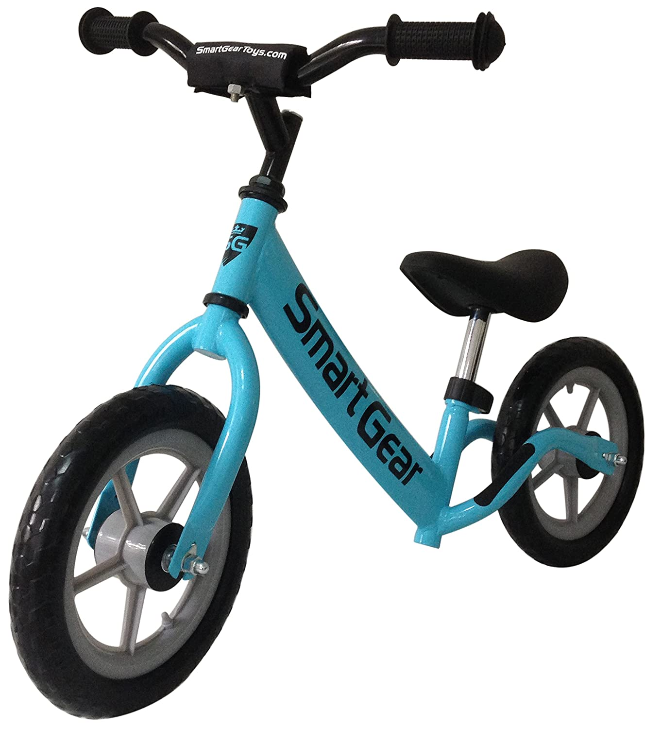 "Smart Gear My First Smart Balance Bike Ultra-Lightweight Frame Kids Bike - Sky Blue 12"" Tires"