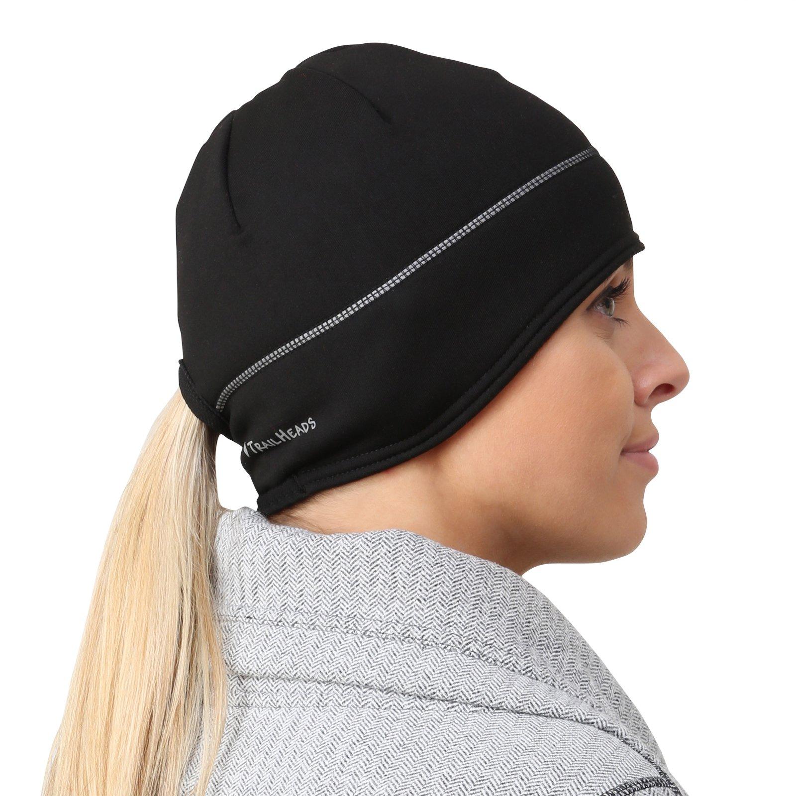 992c191c TrailHeads Women' s Winter Ponytail Beanie Reflective Power Beanie  Performance Running Hat